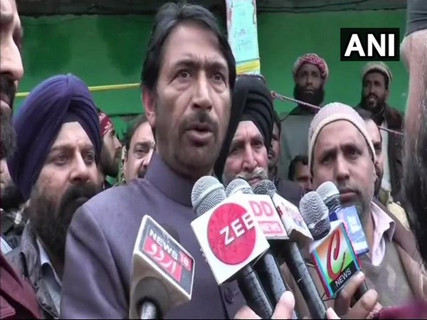 Jammu and Kashmir Pradesh Congress Committee President Ghulam Ahmad Mir speaking to reporters in Poonch on Sunday.
