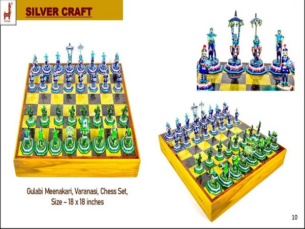 Prime Minister Narendra Modi gifted US Vice President Kamala Harris a Gulabi Meenakari Chess Set. (ANI)
