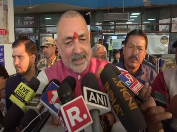 Union Minister and Bharatiya Janata Party (BJP) leader Giriraj Singh speaking to reporters in Bihar on Wednesday. Photo/ANI