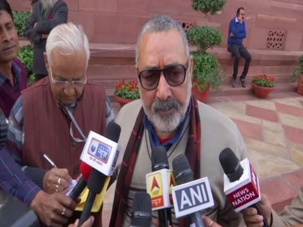Union Minister Giriraj Singh speaking to reporters in New Delhi on Monday, Photo/ANI