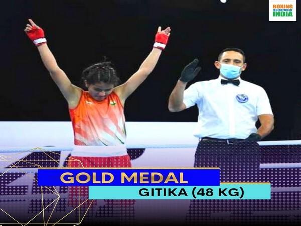 India boxer Gitika Narwal (Photo/ Boxing Federation Twitter)