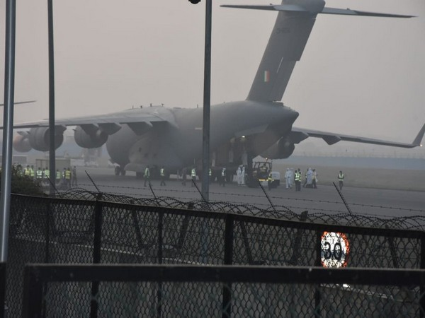 C-17 Globemaster aircraft of the Indian Air Force arrived from China's Wuhan on Thursday morning.