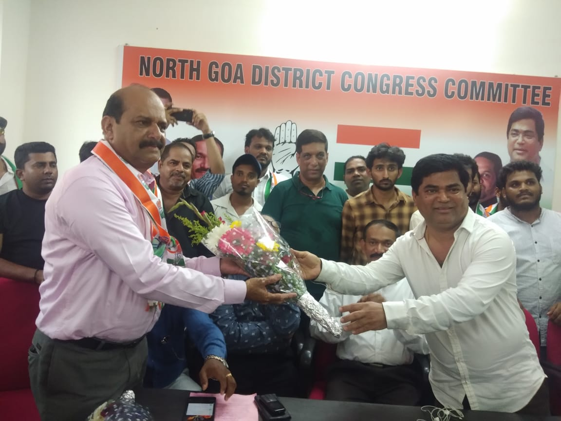 Sudhir Kandolkar joins the BJP on Sunday. Photo/ANI