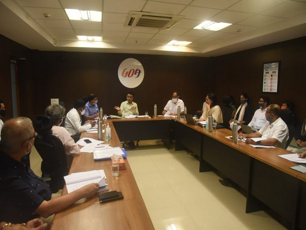 Goa Chief Minister holds meeting with Board members of GoaIPB on Monday. Photo/ANI