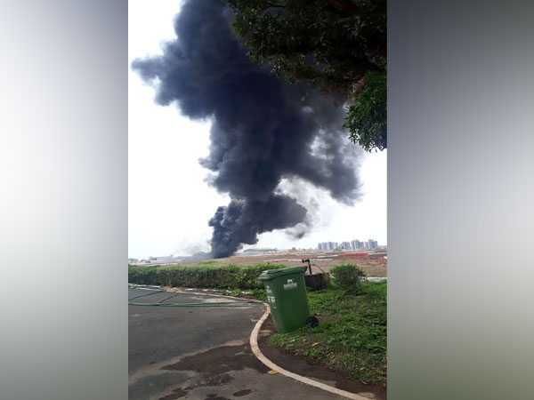 Visuals from Goa airport where a fire broke out on Saturday.