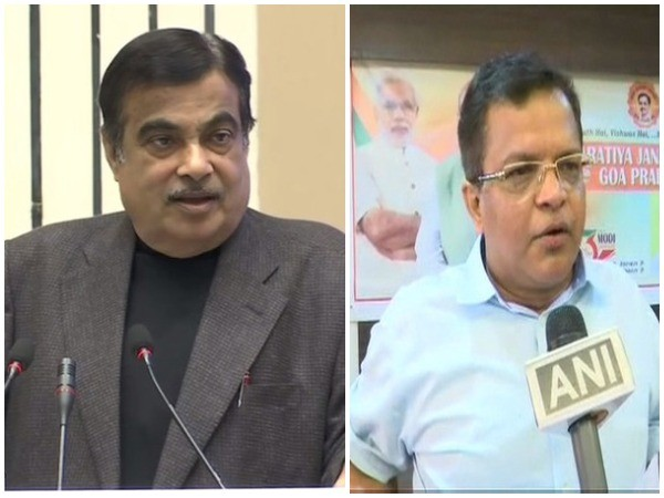 Union Minister for Shipping Nitin Gadkari (left) and Member of Parliament from South Goa Narendra Keshav Sawaikar (right). File photo