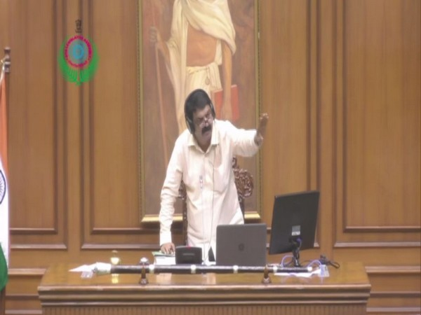 Goa Assembly Speaker Rajesh Patnekar requesting members to ensure smooth functioning of the house on Monday. (ANI)