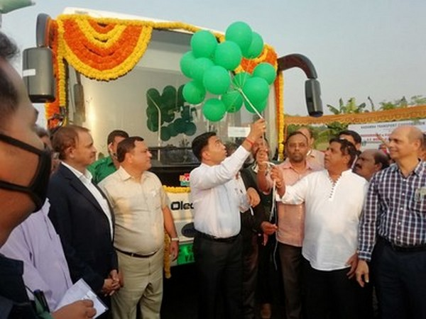 Olectra electric buses flaggeged off by Chief Minister of Goa, Dr Pramod Sawant on Tuesday.