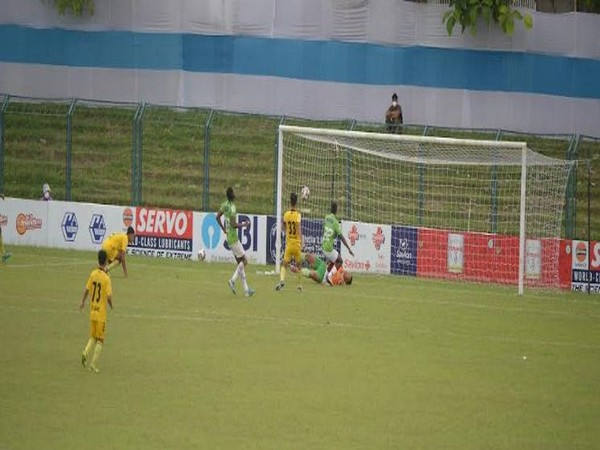Gokulam Kerala in action against Hyderabad FC (Photo: Durand Cup)