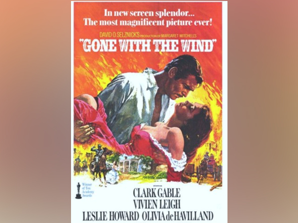 A poster of the film 'Gone With The Wind'