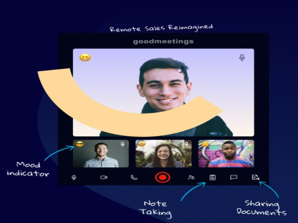 The startup is an online video and AI-enabled platform that helps sales people sell 10X better over video calls