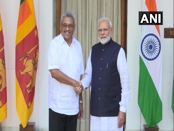 Sri Lankan President Gotabaya Rajapaksa with Prime Minister Narendra Modi