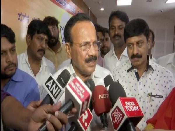 Union Minister Sadananda Gowda speaking to media persons in Bengaluru on Monday. Photo/ANI