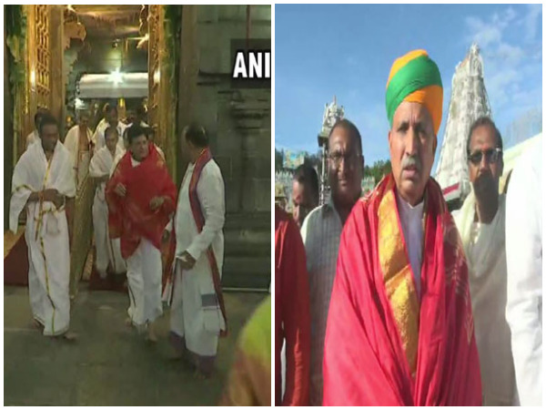 Union Ministers Piyush Goyal and Arjun Ram Meghwal visit Tirupati