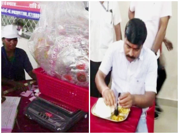 'Garbage Cafe'in Chhattisgarh's Ambikapur offers free food in exchange for plastic waste. (Photo/ANI)