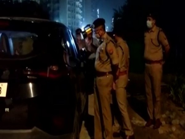 Two shot dead in Greater Noida residential society on Monday. Photo/ANI