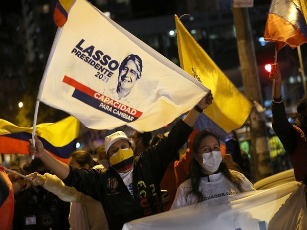 Supporters of former banker and three-time presidential candidate Guillermo Lasso (Photo Credit - Reuters)