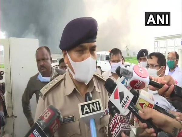KT Kamariya, Ahmedabad Superintendent of Police, Rural speaking to reporters in Ahmedabad on Wednesday. Photo/ANI