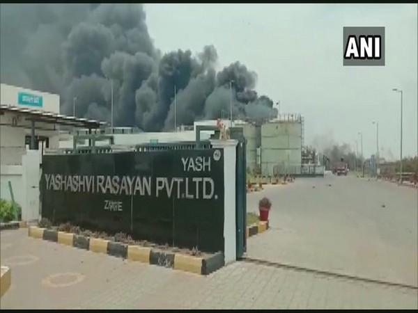 Smoke at Yashashvi Rasayan Private Limited. (Photo/ANI)