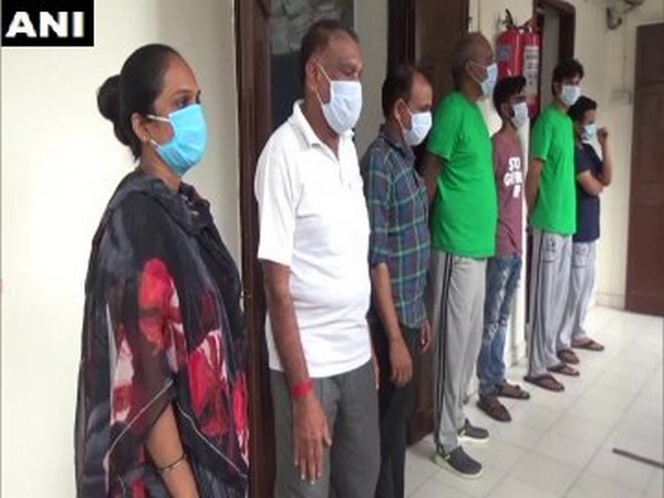 Seven people arrested in Vadodara for duping people on pretext of providing jobs, on Sunday. Photo/ANI
