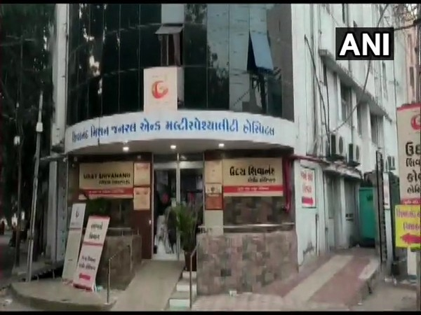 Visual from the hospital in Rajkot [Photo/ANI]