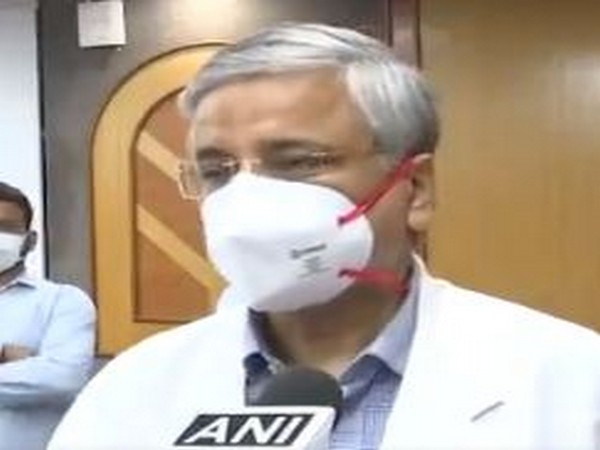All India Institutes of Medical Sciences (AIIMS) Director, Dr Randeep Guleria speaking to ANI on Tuesday. Photo/ANI