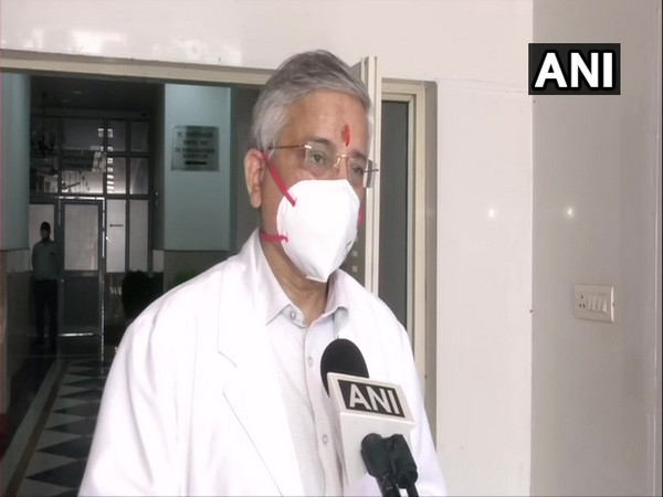 AIIMS Director Randeep Guleria speaking to ANI on Thursday. (Photo/ANI)