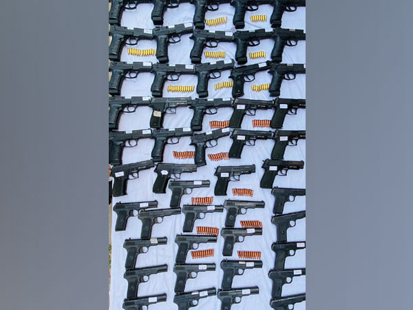 Seized foreign-made pistols