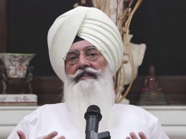 Spiritual head of Radha Soami Satsang Beas Gurinder Singh Dhillon