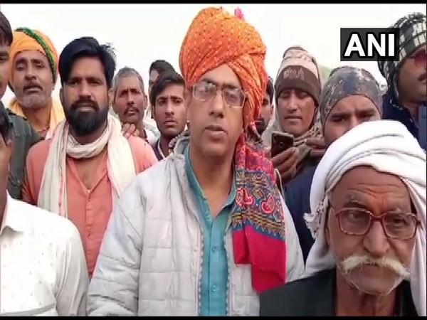 Rajasthan Gurjar leader Vijay Bainsla (ANI Image)
