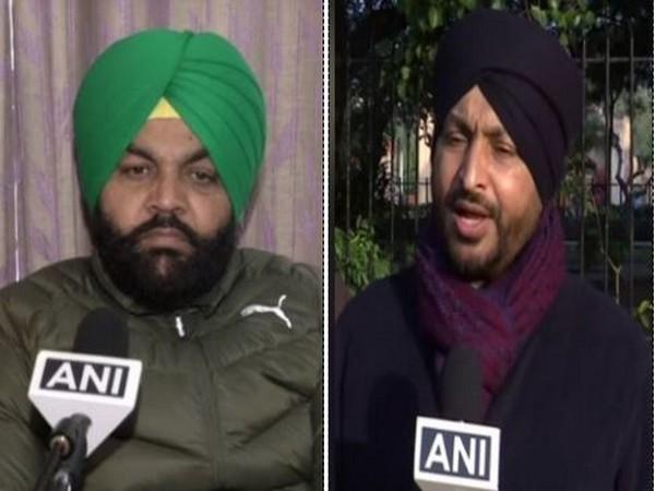 Punjab Congress MPs Gurjeet Singh Aujla (on Left) and Ravneet Singh Bittu (File Photos/ANI)