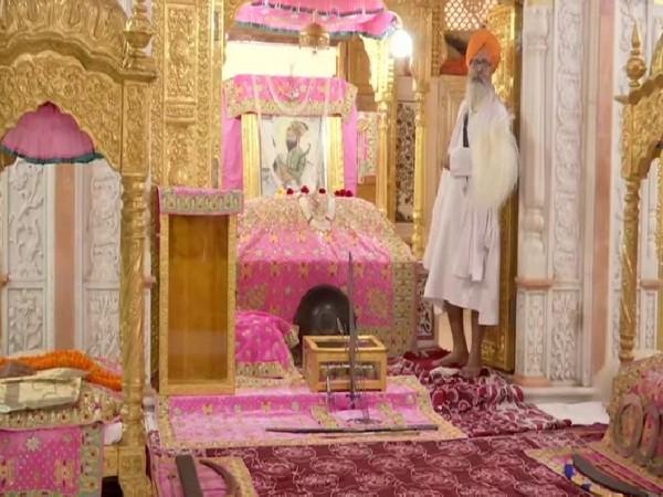 Celebrations of the 550th birth anniversary of Guru Nanak Dev taking place in Patna Sahib Gurudwara on Tuesday.