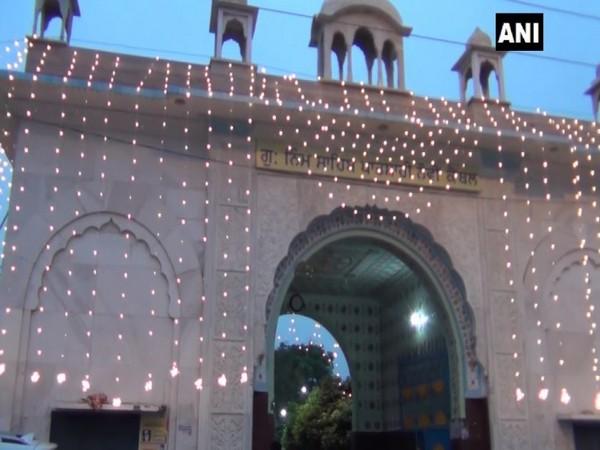 Gurudwara Neem Sahib illuminated at the occasion on Monday. Photo/ANI