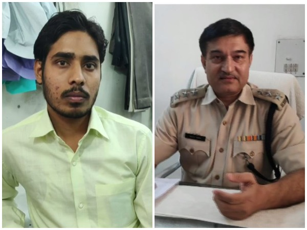 Complainant Mohammad Barkat Alam (left) and ACP of Sadar area, Gurugram, Rajeev Yadav