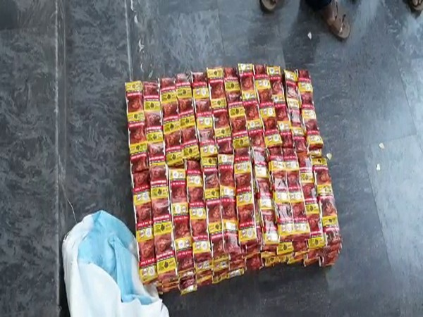 Gutka seized by Andhra Pradesh Police Photo/ANI