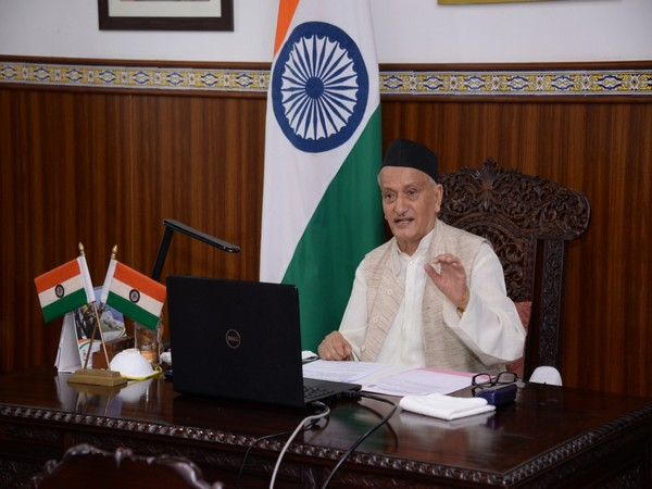 Maharashtra Governor Bhagat Singh Koshyari addressing a two-day international webinar on Mass Plantation Drive for Bamboo Mission through video conferencing on Saturday.