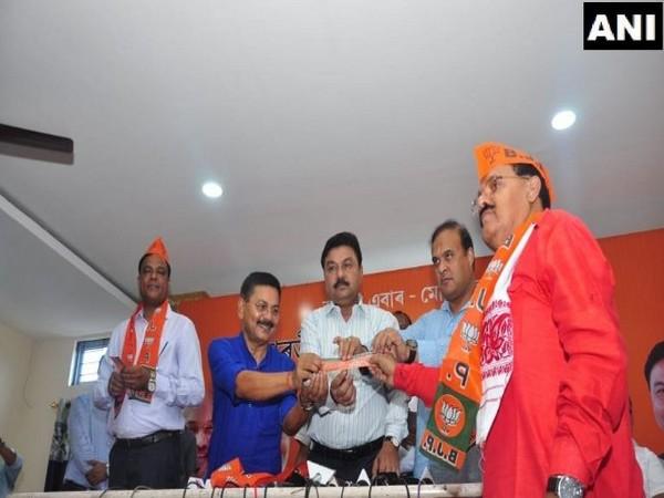 Former Congress leaders Santiuse Kujur and Gautam Roy joined BJP on Sunday