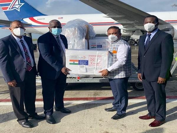 Guyana receives COVID-19 vaccine from India (Photo Credit: Twitter/ S Jaishankar)