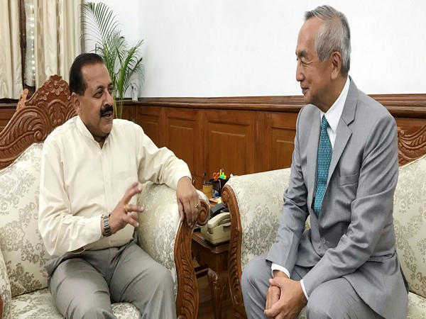 Jitendra Singh with Japan's Ambassador to India Kenji Hiramatsu in New Delhi on Wednesday.