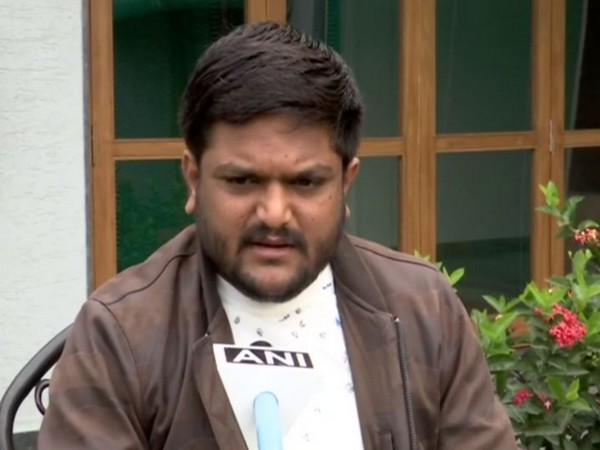 Gujarat Congress working President Hardik Patel speaking to ANI on Wednesday. [Photo/ANI]