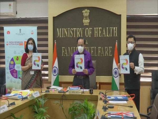 Union Health Minister Dr Harsh Vardhan releases detailed progress card on INAP targets and plan on Friday. (Photo/ANI)