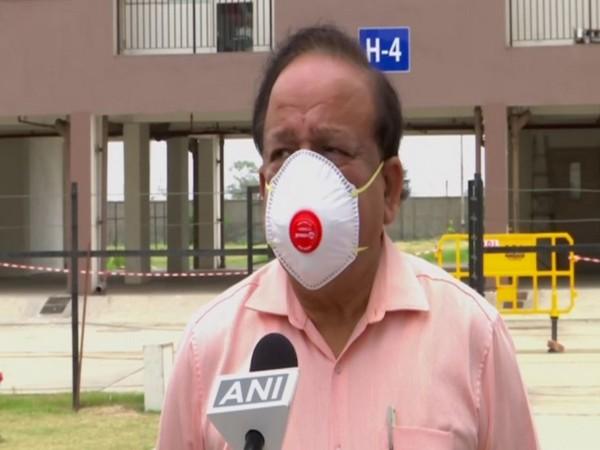 Union Health Minister Dr Harsh Vardhan speaking to ANI on Sunday. Photo/ANI