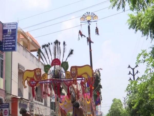 Visual of Veerakaliamman Panguni festival