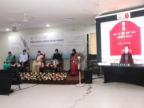 Visual of Union Health Secretary Rajesh Bhushan at the event (Photo/ANI)