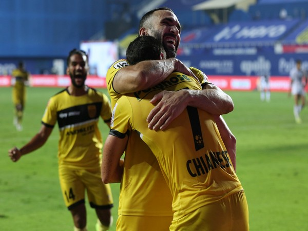 Joel Chianese doubled the lead for Hyderabad in second half. (Photo/ ISL)
