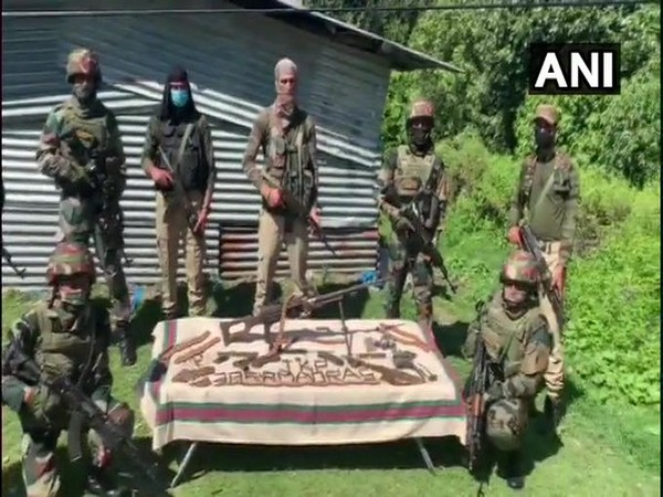 A terrorist hideout that was busted in Rajouri's Thanamandi area.