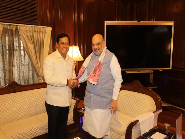 Assam Chief Minister Sarbananda Sonowal and Union Home Minister Amit Shah