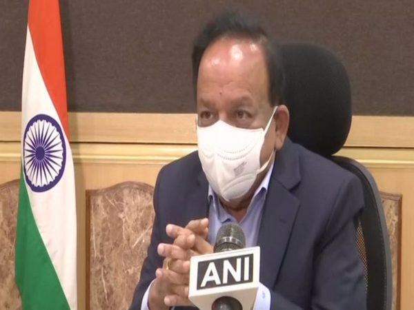 Union Health Minister Dr Harsh Vardhan speaking to ANI on Sunday. (Photo/ANI)