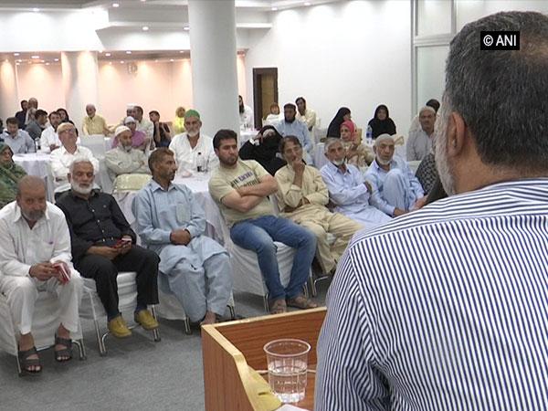 Hajj pilgrims training programme on Sunday. Photo/ANI
