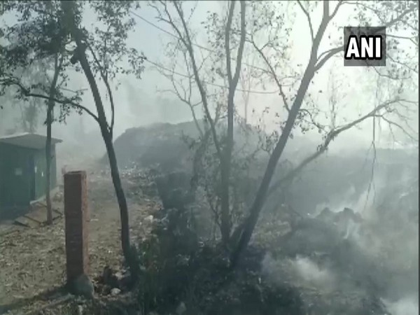 Fire continues to rage in the garbage dumped at Haldwani's trenching ground